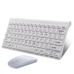 USB 2.4GHz Wireless Cordless Slim Mouse and Keyboard Combo Kit for PC BK HS