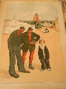 Saltimbanques-Dix-ans-et-ne-sait-pas-marcher-sur-les-Main-Humour-Print-1905