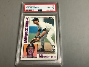 1984-Topps-8-Don-Mattingly-New-York-Yankees-RC-Rookie-PSA-8-NM-MT-new-holder