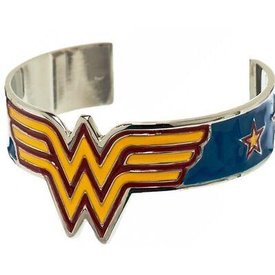 DC Comics WONDER WOMAN Logo Metal Cuff BRACELET