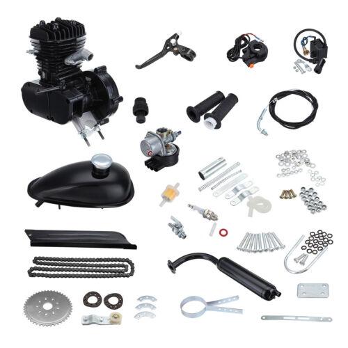 Radsport 2-Takt 50cc 38km/h Fahrrad Motorisierte Benzin Cycle Hilfsmotor Bike Schwarz