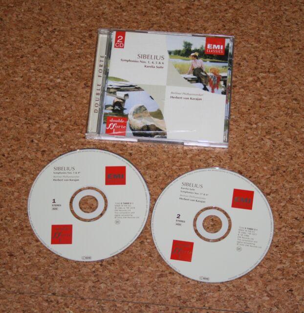 CD Herbert von Karajan Sibelius  1 4 5 6 Doppel CD 2001 EMI