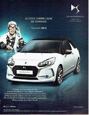 PUBLICITE ADVERTISING 126  2016   la nouvelle DS3 Iris Apfel