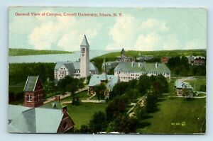 Ithaca-NY-1900s-AERIAL-VIEW-OF-CORNELL-UNIVERSITY-CAMPUS-POSTCARD-M7