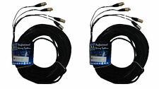 (2) CBI MT2XX 50ft Dual Stereo Pair XLR to XLR Microphone Cable Mic Cord Neutrik