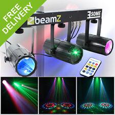 Beamz 3-Some Professional Colour LED Disco Lighting Rail Party DJ Laser Light