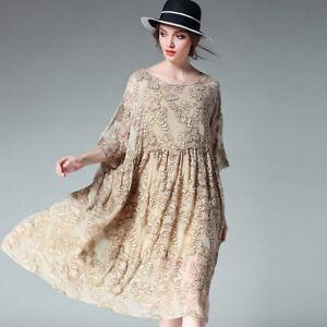 Womens plus size dresses Silk Embroidery Elegant dress two piece ...