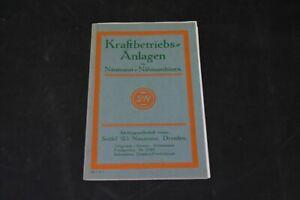 Age Print Naumann Kraftbetriebsanlagen Old Vintage Advertisement Advertising