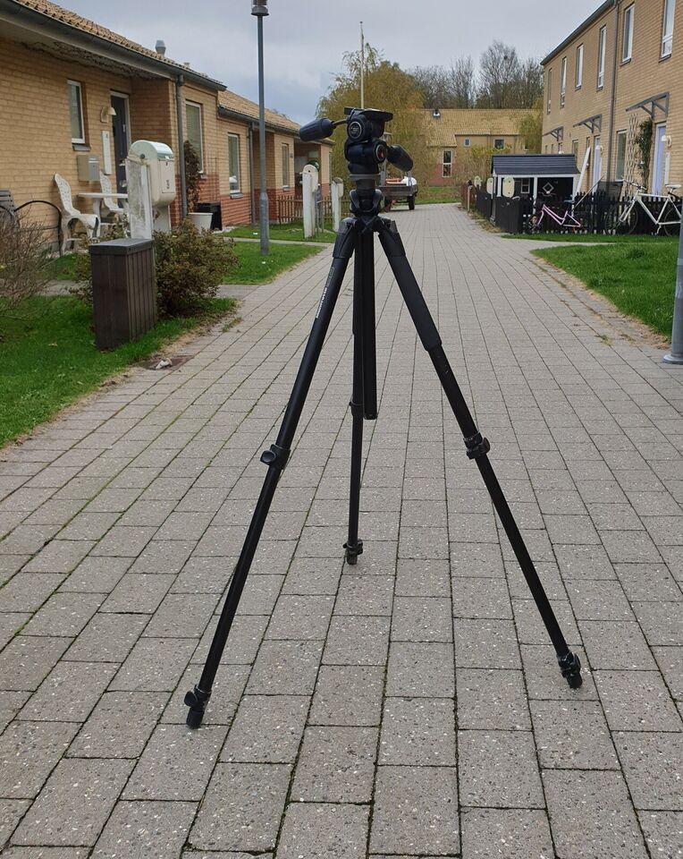 Kamerastativ med 3-vejs hoved, Manfrotto, 055XPROB m.