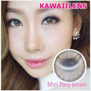 Details about Kontaktlinsen Contact Lenses Lens Makeup Eye Cosplay UV  Protect Mini Pony Brown