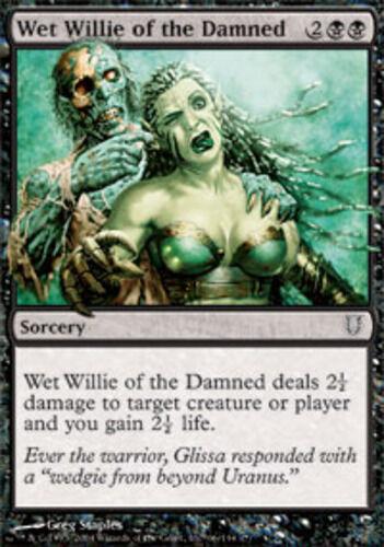 4x Wet Willie of the Damned MTG Unhinged NM Magic Regular