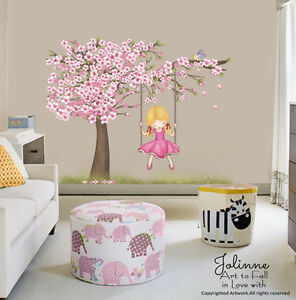 Image Is Loading Cherry Blossom Tree Wall Decal Kids Room Big