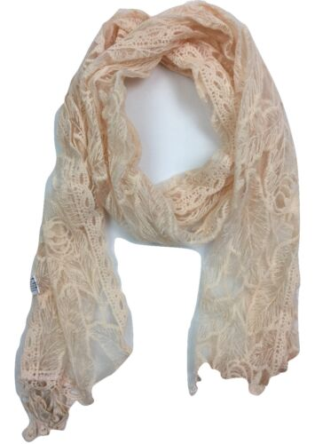 NEW IN WOMEN LADIES MESH LACE EMBROIDERED HIGH QUALITY NECKERCHIEF PASHMINA SCAR