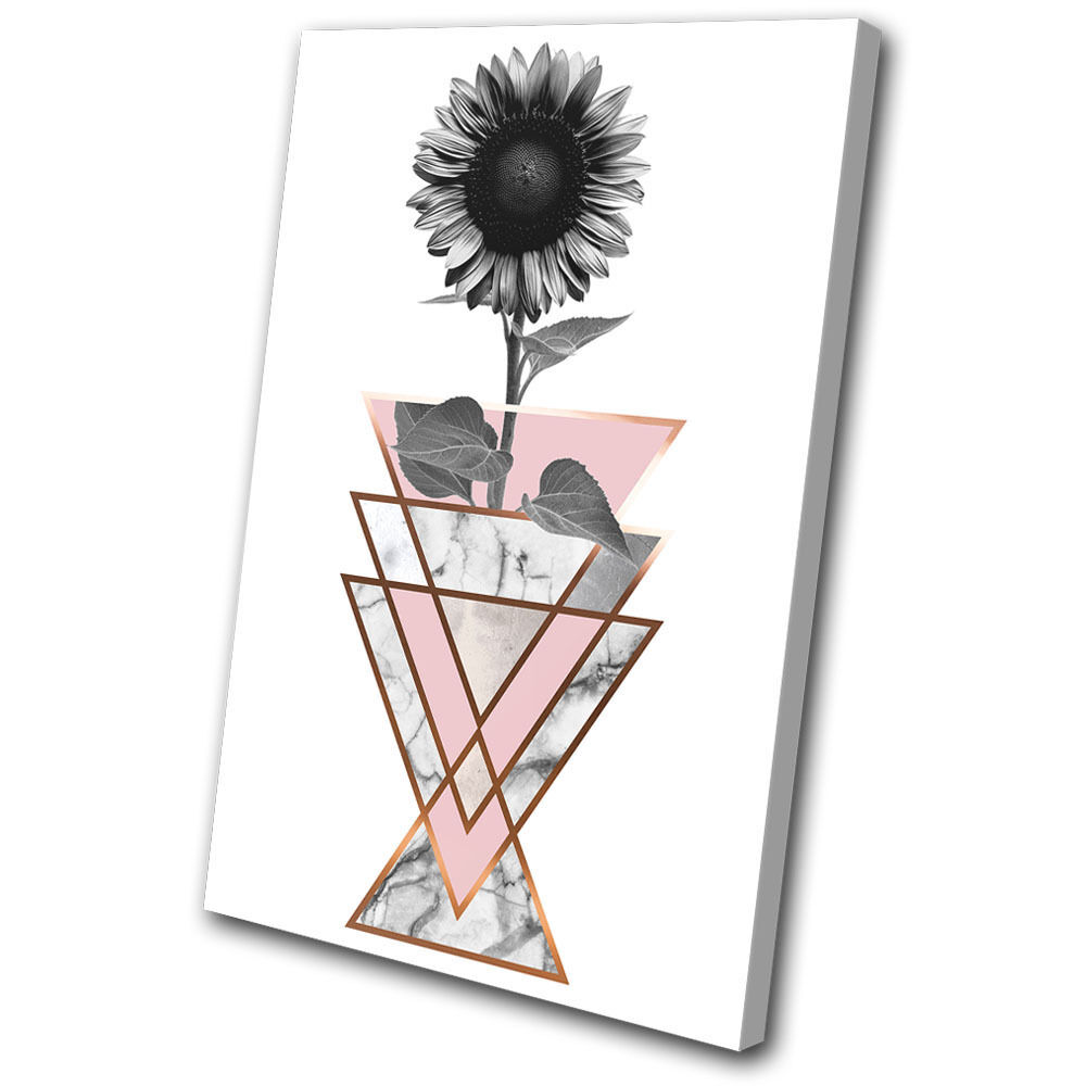 Sunflower Geometric Abstract Floral SINGLE TELA parete arte foto stampa stampa stampa c9d7ce