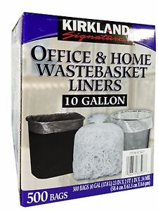 Image Is Loading Kirkland Signature 10 Gallon Office Amp Home Wastebasket