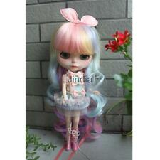 High-temperature Long Curl Hair Wig for 1/6 Blythe Doll Costume Accessory #3