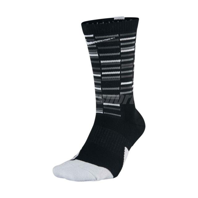 sports shoes bb2b5 904c9 Nike Cushioned Elite Crew Socks Black Sx7010 010 Men s Sz Medium 6-8