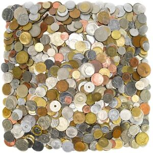 LOT-OF-4-POUNDS-1-8-KG-MIXED-FOREIGN-WORLD-COINS-MOSTLY-EUROPE-20th-CENTURY