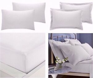 Extra-Profonde-Ajustee-Taille-16-034-40-cm-Percale-Simple-Double-King-Super-King-feuilles