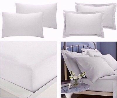 "EXTRA DEEP SIZE 16/""//40 CM FITTED PERCALE SINGLE,DOUBLE SUPER KING SHEETS KING"