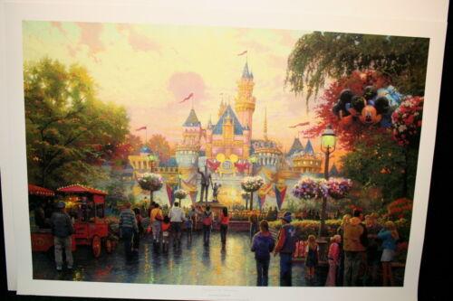 Thomas Kinkade Disneyland 50th Anniversary 24x36 Publishers Proof Unframed Paper