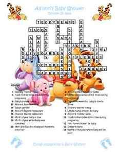 birth announcement words crossword