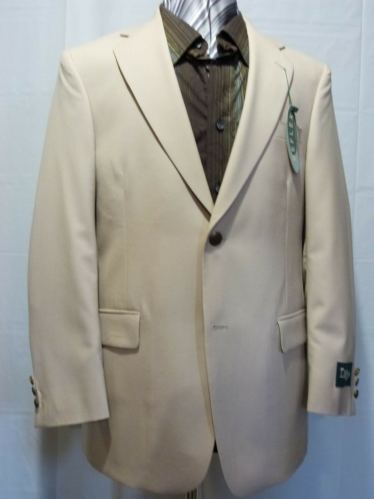 Palm Beach, Two Button Sport Coat, 100% Wool, Beige, NWT