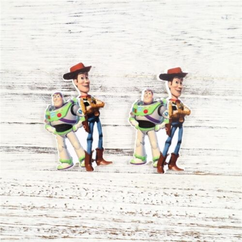 5 X 35MM BUZZ WOODY TOY STORY LASER CUT FLAT BACK RESIN HEADBANDS HAIR BOWS