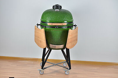 "Ynni 25"" Bespoke Light Green Kamado Grill Egg Inc.s.steel Fittings Tq0025lg`"