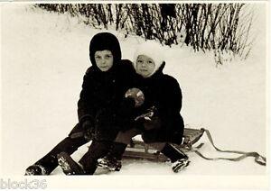 1960-039-s-Soviet-photo-Children-on-the-sledge-on-snowy-hill