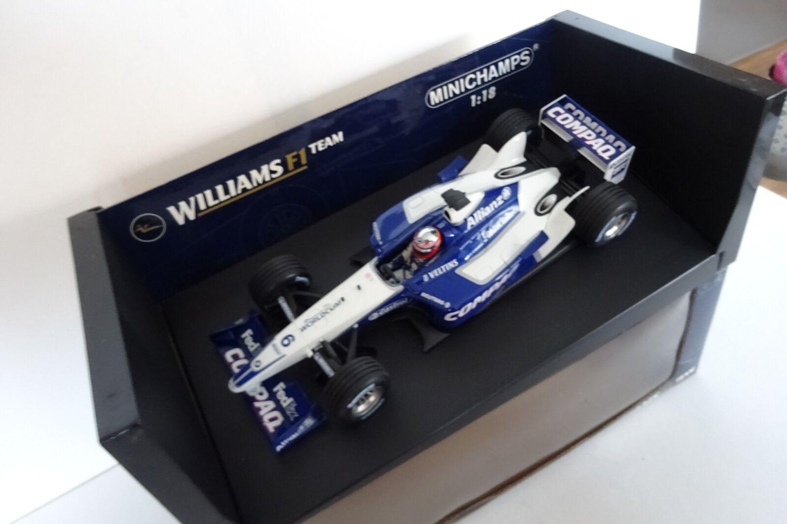 1 18 Williams FW24 Juan Pablo MonJuguetea 2002 F1 Minichamps NEW OVP TOPP
