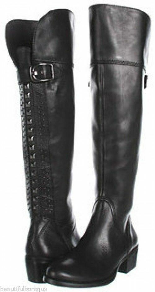 VINCE CAMUTO WOMENS BOLLO STUDDED OVER THE KNEE LEATHER  BOOTS r8643 $258.00 5