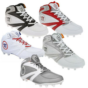 NEW-Mens-Warrior-2nd-Degree-3-0-Lacrosse-Mid-Cleats-Choose-Your-Size-amp-Color