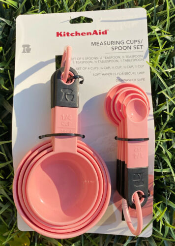 Kitchenaid Measuring Cups And Spoons Set Guava Glaze Pink Spring Kitchen Decor