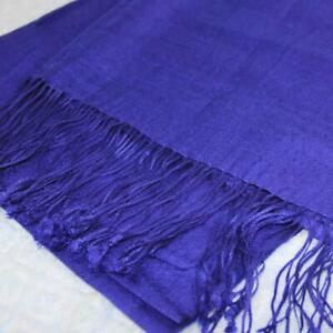 Sale-New-Tassels-2ply-Solid-Cashmere-Wool-Blend-Soft-Warm-Shawl-Scarf-Gift-075