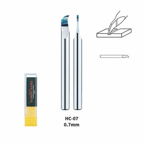 Scriber Dspiae 0.7mm Tungsten Steel Hook Broach 3.175mm Shank Dia