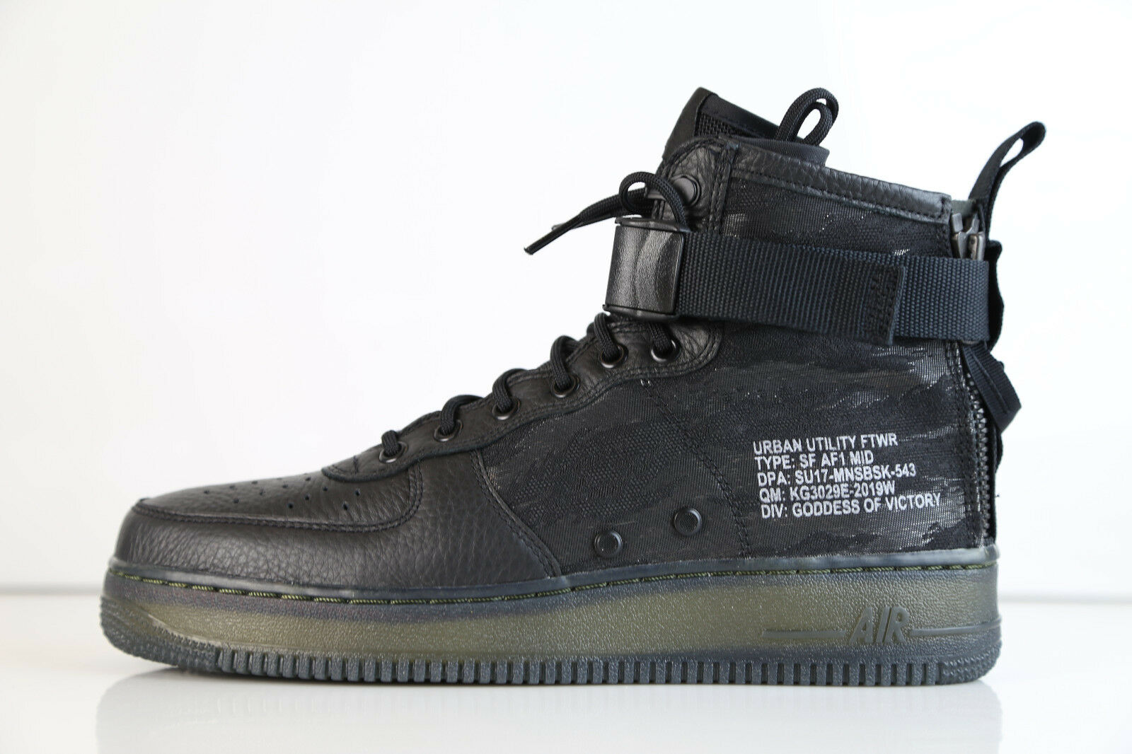 Nike Air Tiger Force 1 SF AF1 Mid Urban utilidad Negro Tiger Air Camo QS aa7345-001 8 13 3 Wild Casual Shoes 5f810a