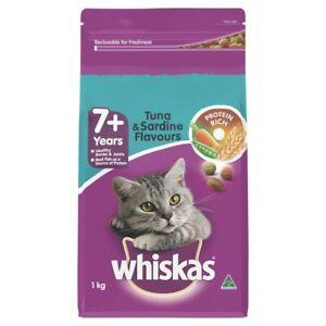 Whiskas Tuna & Sardine Flavours Dry Cat Food 7+ Years 1kg
