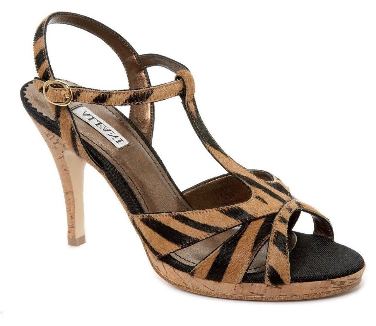 New ALFANI Damens Damens Damens Leder High Heel Pump Open Toe Sandale Slingback Schuhes Sz 8.5 M 33a0b1