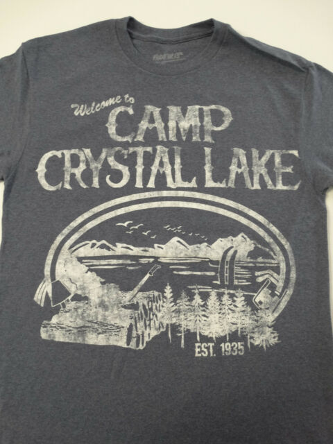 Friday the 13th Jason CAMP CRYSTAL LAKE VINTAGE SIGN HOODED SWEATSHIRT HOODIE