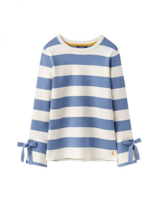 Joules daMänner's Myanna Tie Sleeve Jumper in Light Blau Stripe