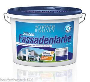 Sch ner wohnen silicon fassadenfarbe 2 5 liter wei for Schoner wohnen fassadenfarbe