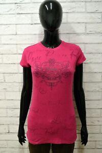Maglia-HARD-ROCK-Donna-Taglia-Size-S-Maglietta-Shirt-Woman-Cotone-Manica-Corta