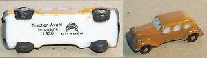 Charm Citroen Traction Avant Limousine Marron Clair 1936 Feve Porcelaine 3d Fehkjeay-07223453-734095359