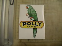 Vintage Polly Gas Parrot Sticker 7.1x10