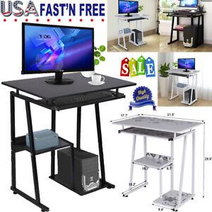 Computer Desk w//Keyboard Tray Laptop Table Study Shelf Workstation Office Home