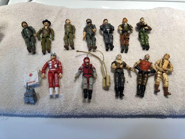 GI Joe Loose Figures Lot Of 12- Clutch, Lifeline, Dusty, Overlord, Wild Bill