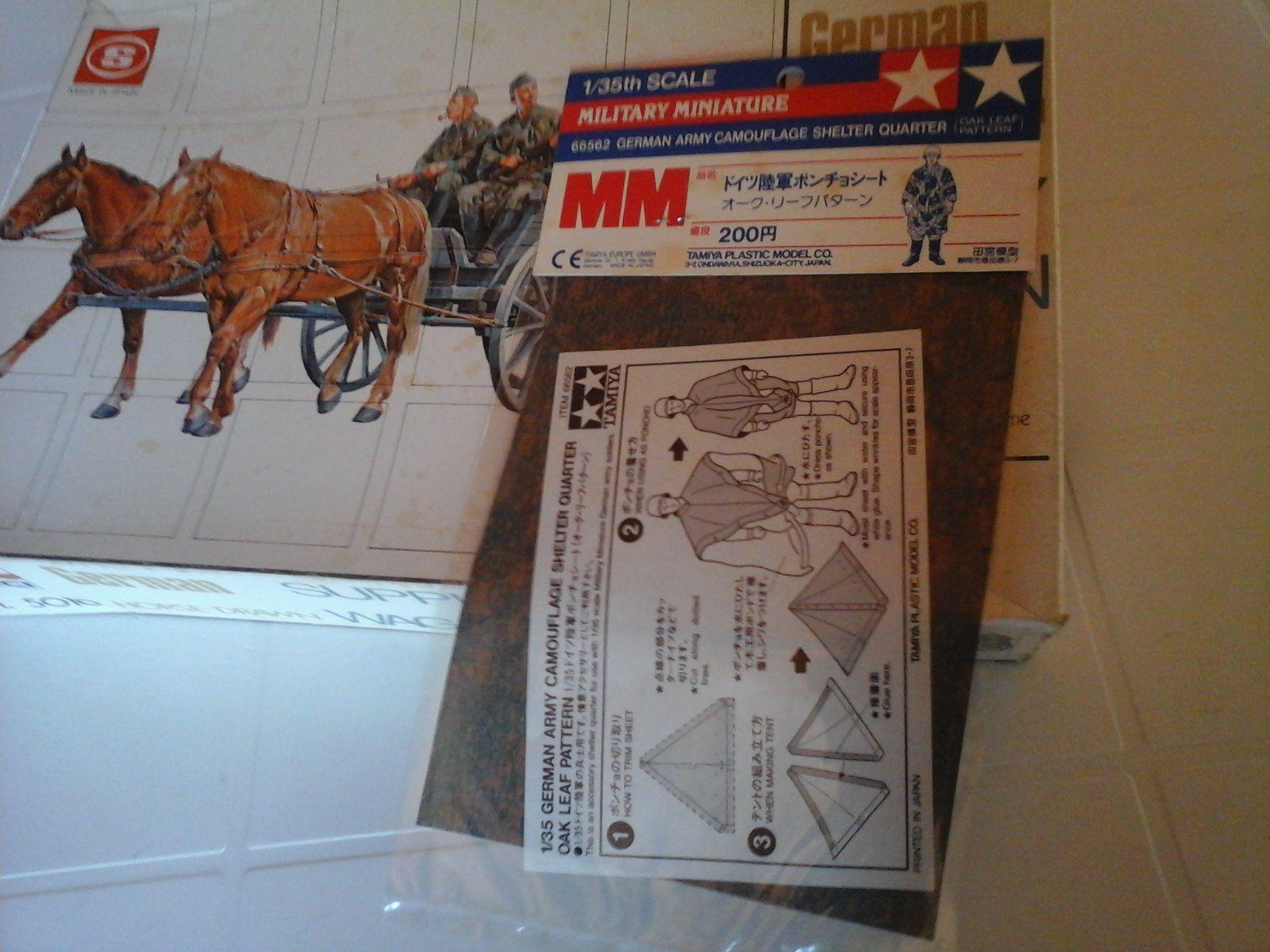 GERMAN HORSE-DRAWN SUPPLY WAGON W.W.II FRANCE FRANCE FRANCE 1940 1/35 SCALE ESCI CAMOUFLAGE | Extravagant  147046