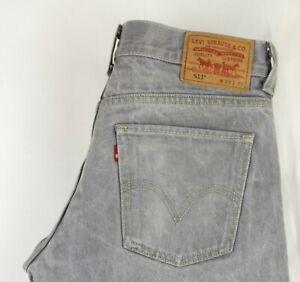 Levi-039-s-Strauss-amp-Co-Uomo-511-Slim-Skinny-Jeans-Taglia-W33-L32-ACZ928
