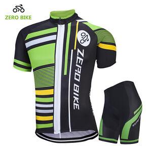 Road-Bike-Clothing-Kits-Men-039-s-Summer-Cycling-Short-Sleeve-Jerseys-and-Shorts-Set